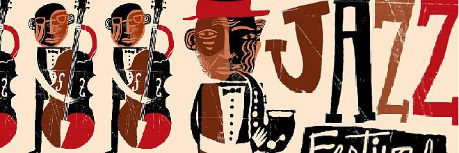 Смешная джазовая афиша в джаз-клубе Будапешта