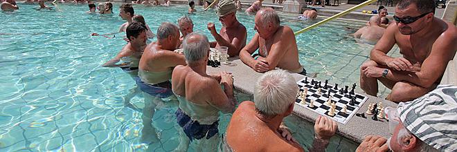 гид по Будапешту Анна Чайковская. Термальные купальни «Сечени», Будапешт, Венгрия.