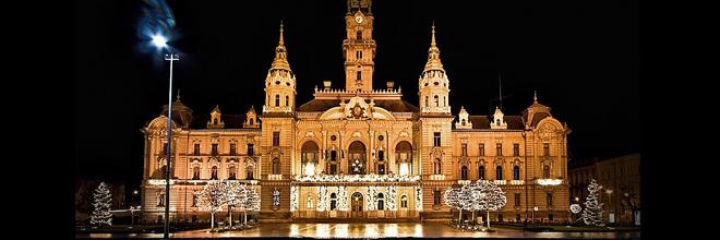 Рождественская ночь в Дьёре, Венгрия. русский русскоязычный гид по Будапешту и Венгрии на русском языке