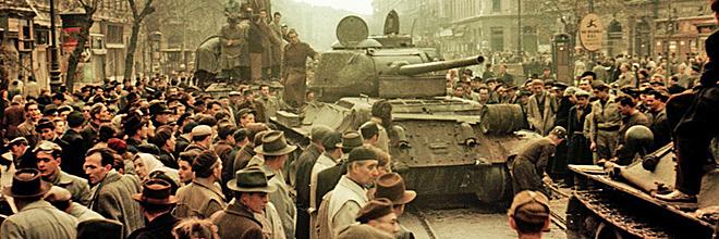 танк захваченный повстанцами у ВНА, октябрь 1956, Будапешт